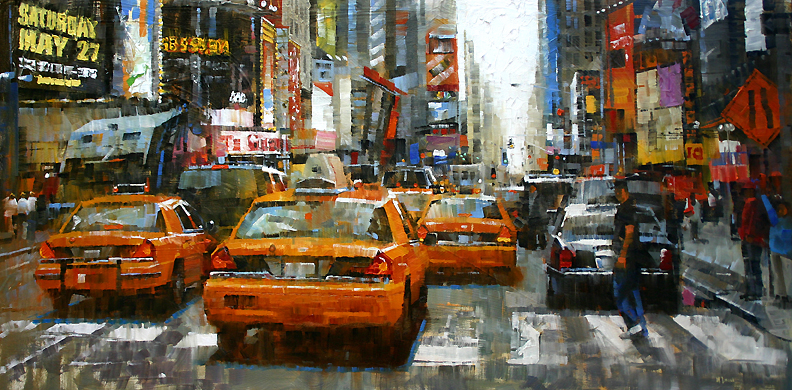 20. Mark Lague- I have 7 more artist but I have to stop at Mark for now and just post this!  Mark takes each stroke and makes sense out of squares!!! How does he do this! Every time he puts a square down, he is actually drawing with it, sketching with it!
