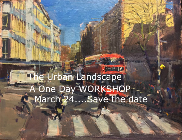 Save the date, March 24, 2018. The Urban Landscape Workshop in London, details to follow.