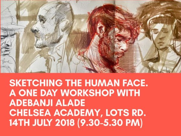 Adebanji Alade's One day Workshop on Sketching The Human face in London